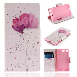 Purple Orchid PU Leather Wallet Case for Sony Xperia XZ1 Compact