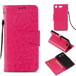 Retro Phantom Smooth PU Leather Wallet Holster Case for Sony Xperia XZ1 Compact - Rose