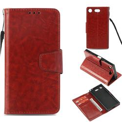 Retro Phantom Smooth PU Leather Wallet Holster Case for Sony Xperia XZ1 Compact - Brown