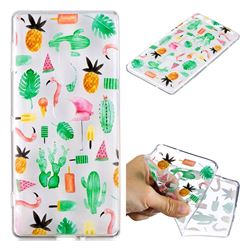 Cactus Flamingos Super Clear Soft TPU Back Cover for Sony Xperia XZ2
