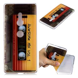 Retro Cassette Tape Super Clear Soft TPU Back Cover for Sony Xperia XZ2
