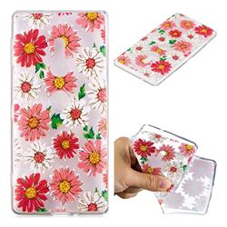 Chrysant Flower Super Clear Soft TPU Back Cover for Sony Xperia XZ2