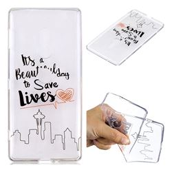 Line Castle Super Clear Soft TPU Back Cover for Sony Xperia XZ2