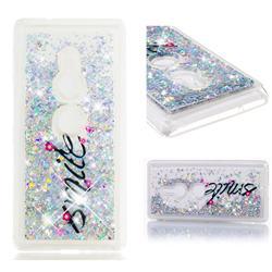 Smile Flower Dynamic Liquid Glitter Quicksand Soft TPU Case for Sony Xperia XZ2