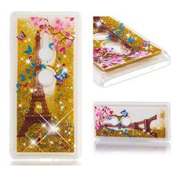 Golden Tower Dynamic Liquid Glitter Quicksand Soft TPU Case for Sony Xperia XZ2
