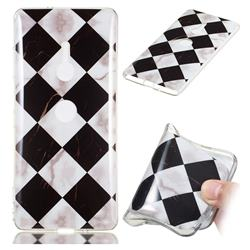 Black and White Matching Soft TPU Marble Pattern Phone Case for Sony Xperia XZ2