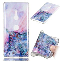 Purple Amber Soft TPU Marble Pattern Phone Case for Sony Xperia XZ2