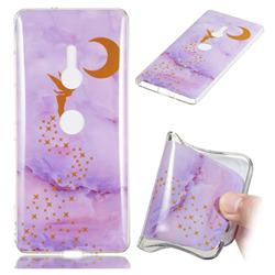 Elf Purple Soft TPU Marble Pattern Phone Case for Sony Xperia XZ2