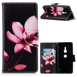 Lotus Flower Leather Wallet Case for Sony Xperia XZ2