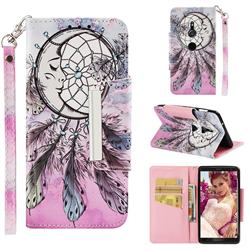 Angel Monternet Big Metal Buckle PU Leather Wallet Phone Case for Sony Xperia XZ2