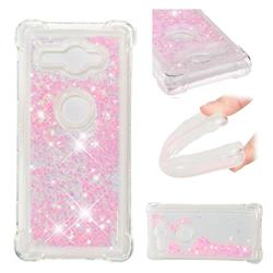 Dynamic Liquid Glitter Sand Quicksand TPU Case for Sony Xperia XZ2 Compact - Silver Powder Star