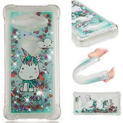 Tiny Unicorn Dynamic Liquid Glitter Sand Quicksand Star TPU Case for Sony Xperia XZ2 Compact