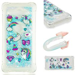 Fashion Unicorn Dynamic Liquid Glitter Sand Quicksand Star TPU Case for Sony Xperia XZ2 Compact