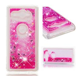 Dynamic Liquid Glitter Quicksand Sequins TPU Phone Case for Sony Xperia XZ2 Compact - Rose