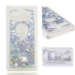 Dynamic Liquid Glitter Quicksand Sequins TPU Phone Case for Sony Xperia XZ2 Compact - Silver