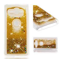 Dynamic Liquid Glitter Quicksand Sequins TPU Phone Case for Sony Xperia XZ2 Compact - Golden