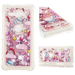 Angel Pony Dynamic Liquid Glitter Sand Quicksand Star TPU Case for Sony Xperia XZ2 Compact