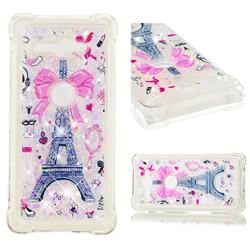 Mirror and Tower Dynamic Liquid Glitter Sand Quicksand Star TPU Case for Sony Xperia XZ2 Compact