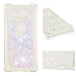 Dynamic Liquid Glitter Sand Quicksand Star TPU Case for Sony Xperia XZ2 Compact - Pink