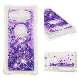 Dynamic Liquid Glitter Sand Quicksand Star TPU Case for Sony Xperia XZ2 Compact - Purple