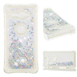 Dynamic Liquid Glitter Sand Quicksand Star TPU Case for Sony Xperia XZ2 Compact - Silver