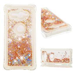 Dynamic Liquid Glitter Sand Quicksand Star TPU Case for Sony Xperia XZ2 Compact - Diamond Gold