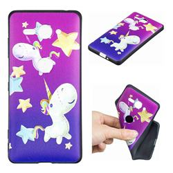 Pony 3D Embossed Relief Black TPU Cell Phone Back Cover for Sony Xperia XZ2 Compact