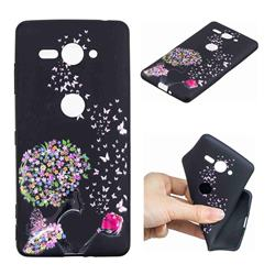 Corolla Girl 3D Embossed Relief Black TPU Cell Phone Back Cover for Sony Xperia XZ2 Compact