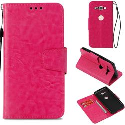 Retro Phantom Smooth PU Leather Wallet Holster Case for Sony Xperia XZ2 Compact - Rose