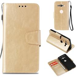 Retro Phantom Smooth PU Leather Wallet Holster Case for Sony Xperia XZ2 Compact - Champagne