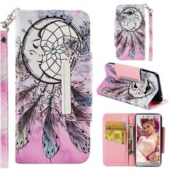 Angel Monternet Big Metal Buckle PU Leather Wallet Phone Case for Sony Xperia XZ2 Compact