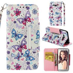 Colored Butterfly Big Metal Buckle PU Leather Wallet Phone Case for Sony Xperia XZ2 Compact