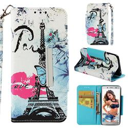Lip Tower Big Metal Buckle PU Leather Wallet Phone Case for Sony Xperia XZ2 Compact