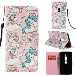Angel Pony 3D Painted Leather Wallet Case for Sony Xperia XZ2 Premium
