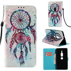 ColorDrops Wind Chimes 3D Painted Leather Wallet Case for Sony Xperia XZ2 Premium