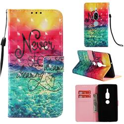 Colorful Dream Catcher 3D Painted Leather Wallet Case for Sony Xperia XZ2 Premium