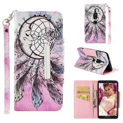 Angel Monternet Big Metal Buckle PU Leather Wallet Phone Case for Sony Xperia XZ2 Premium