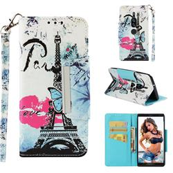 Lip Tower Big Metal Buckle PU Leather Wallet Phone Case for Sony Xperia XZ2 Premium