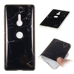Black Soft TPU Marble Pattern Case for Sony Xperia XZ3