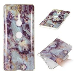 Rock Blue Soft TPU Marble Pattern Case for Sony Xperia XZ3