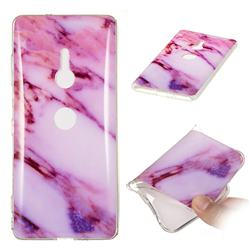 Purple Soft TPU Marble Pattern Case for Sony Xperia XZ3