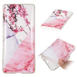 Pink Plum Soft TPU Marble Pattern Case for Sony Xperia XZ3