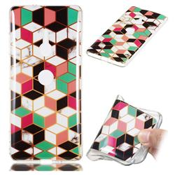Three-dimensional Square Soft TPU Marble Pattern Phone Case for Sony Xperia XZ3
