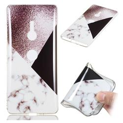 Black white Grey Soft TPU Marble Pattern Phone Case for Sony Xperia XZ3