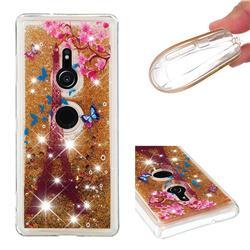 Golden Tower Dynamic Liquid Glitter Quicksand Soft TPU Case for Sony Xperia XZ3