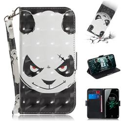 Angry Bear 3D Painted Leather Wallet Phone Case for Sony Xperia XZ3