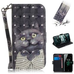 Cat Embrace 3D Painted Leather Wallet Phone Case for Sony Xperia XZ3