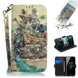 Beast Zoo 3D Painted Leather Wallet Phone Case for Sony Xperia XZ3