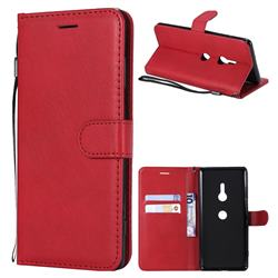 Retro Greek Classic Smooth PU Leather Wallet Phone Case for Sony Xperia XZ3 - Red
