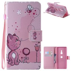 Cats and Bees PU Leather Wallet Case for Sony Xperia XZ3